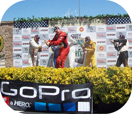 Podium on Saturday of the GoPro Grand Prix