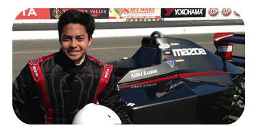 Niki Luna Red Line Oil Karting Champ tested in the Mazda powered FS2.0